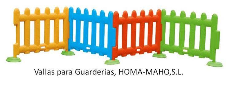Vallas para guarderias y colegios infantiles de plastico